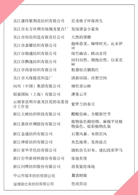 2021第四届中国生态环保面料设计大赛获奖名单正式发布!